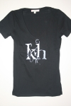 T-Shirt (Black w/ White)
